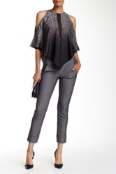 Halston Business Cropped Pant Gray