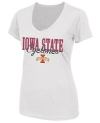 Colosseum Women's Iowa State Cyclones Open Frame T Shirt White