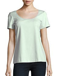 Lafayette 148 New York Cotton Blend Solid Top Iced Mint
