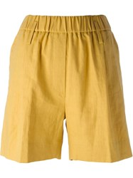 Forte Forte Elasticated Waist Shorts Yellow And Orange