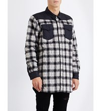 Off White C O Virgil Abloh Quilted Wool Flannel Shirt White