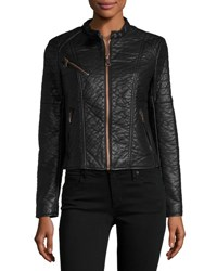 Marc By Andrew Marc George Faux Leather Jacket Black