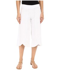 Mod O Doc Linen Rayon Crossover Culottes White Women's Casual Pants