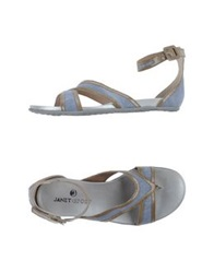 Janet Sport Thong Sandals Pastel Blue