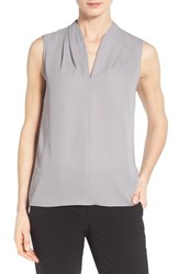 Women's T Tahari 'Edie' Pleat V Neck Blouse