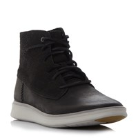 Ugg Lamont Lace Up White Sole Boots Black