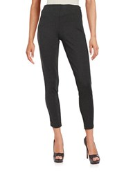 Ivanka Trump Zip Accented Ponte Pants Heather Charcoal