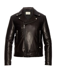 Gucci Classic Leather Biker Jacket Black
