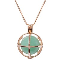 Kiki Minchin The Roxy Cage With Green Aventurine Rose Gold