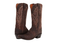 Lucchese M5002 Chocolate Madras Goat Cowboy Boots Brown