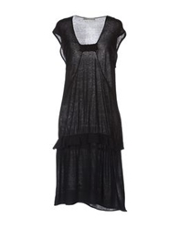 Paolo Pecora Donna Knee Length Dresses Black