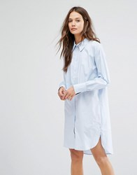 Gestuz Oxford Shirt Dress Blue