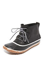 Sorel Out 'N About Leather Booties Black
