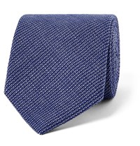 Oliver Spencer 8Cm Lupin Cotton Tie Blue