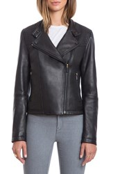 Bagatelle Women's Quilted Lambskin Leather Moto Jacket