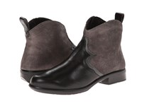 Naot Footwear Sirocco Black Madras Leather Gray Shimmer Leather Metallic Road Leather Women's Boots