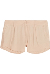 Alice Olivia Butterfly Crepe Shorts Neutral