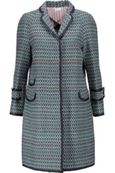 Thom Browne Chesterfield Cotton Tweed Coat Multi