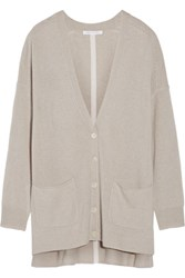 Duffy Oversized Cashmere Cardigan Light Gray
