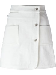 Courra Ges Buttoned Skirt White