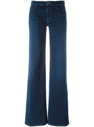 Hudson Flared Trousers Blue