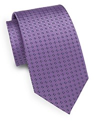 English Laundry Dotted Silk Tie Purple