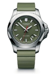 Victorinox Inox Stainless Steel Watch Green Black Blue