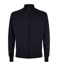 John Smedley Easy Fit Merino Wool Zip Through Sweater Male