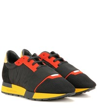 Balenciaga Race Runner Suede And Fabric Sneakers Black
