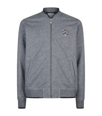 Kenzo Embroidered Tiger Patch Zip Jacket Male Navy