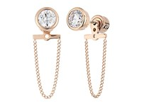 Michael Kors Brilliance Cz Stud Chain Earrings Rose Gold Earring