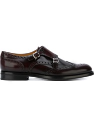 Church's Monk Strap Brogues Red