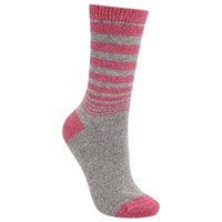John Lewis Wool And Silk Gradient Stripe Ankle Socks Light Grey Candy Light Grey Candy