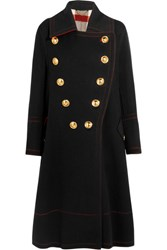 Burberry Prorsum Double Breasted Wool And Cashmere Blend Coat Black