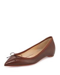 Christian Louboutin Solasofia Leather Red Sole Flat Nude 7