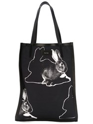 Paul Smith Rabbit Print Shopper Black