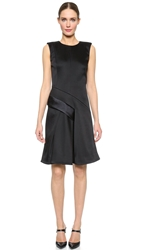 J. Mendel Sleeveless Dress With Pleated Skirt Noir