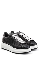 Alexander Mcqueen Perforated Leather Sneakers Black