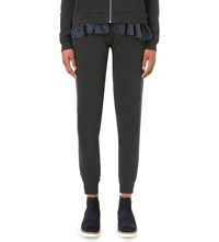 Clu Tapered Cotton Jersey And Silk Jogging Bottoms Forest Green
