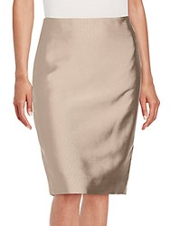 Pauw Silk And Cotton Pencil Skirt Dark Rose