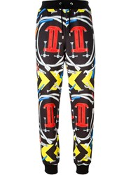 Moschino Interlocking C Clamp Print Track Pant Multicolour