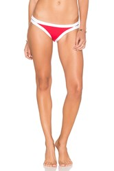 Seafolly Block Party Bikini Bottom Red