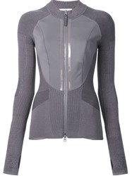 Adidas By Stella Mccartney Knit Cool Jacket Grey