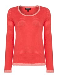 Episode Split Back Scoop Neck Knit Jumper Pink