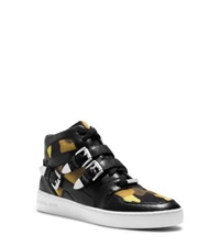 Michael Kors Robin Camouflage High Top Sneaker Acid Yellow