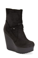 Max Studio 'Fauna' Wedge Bootie Women Black