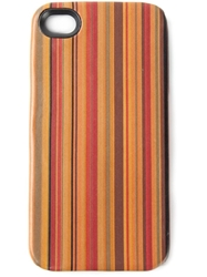 Paul Smith Signature Stripes Iphone 4 4S Cover Brown