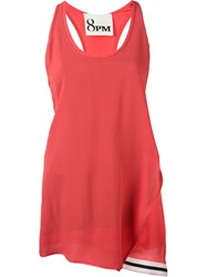 8Pm Asymmetric Tank Top Red