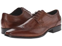 Stacy Adams Melville Cognac Men's Lace Up Wing Tip Shoes Tan