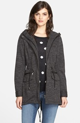 Steve Madden Sweater Knit Anorak Charcoal